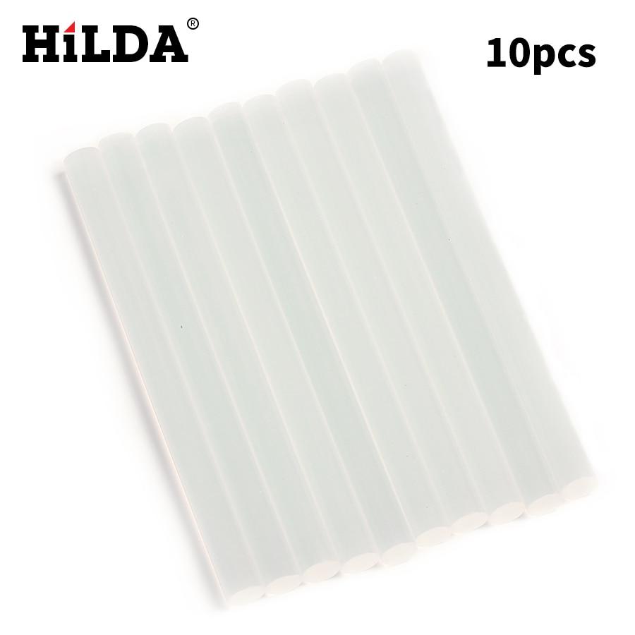 HILDA 10Pcs/Lot 7mm x 98mm Hot Melt Glue Sticks For Electric Glue Gun Craft Album Repair Tools For Alloy Accessories Set Kits