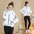 2016 Women Winter Coat New Korean Short Thin Cotton Padded Student Zipper Winter Jacket Women Fashion Slim Short Cotton