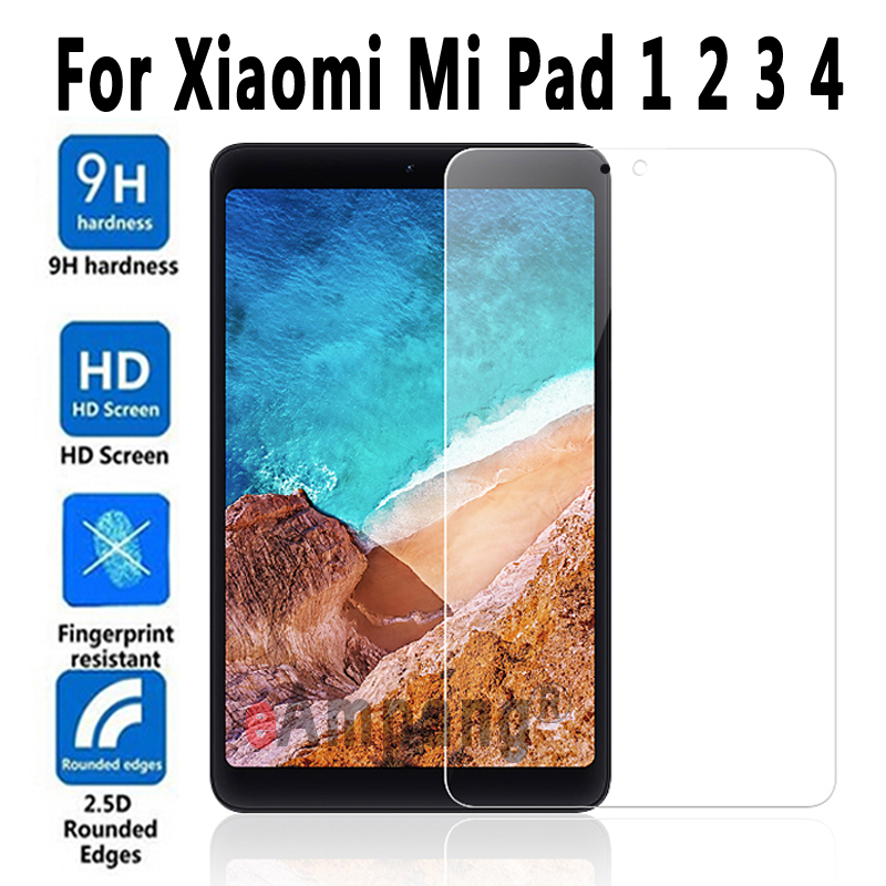 9 H HD vidrio templado para Xiaomi MiPad 1 2 3 4 Protector de pantalla para Xiaomi Mi Pad 3 2 1 8,0/4 10,1/4 Plus 7,9 película de vidrio interior