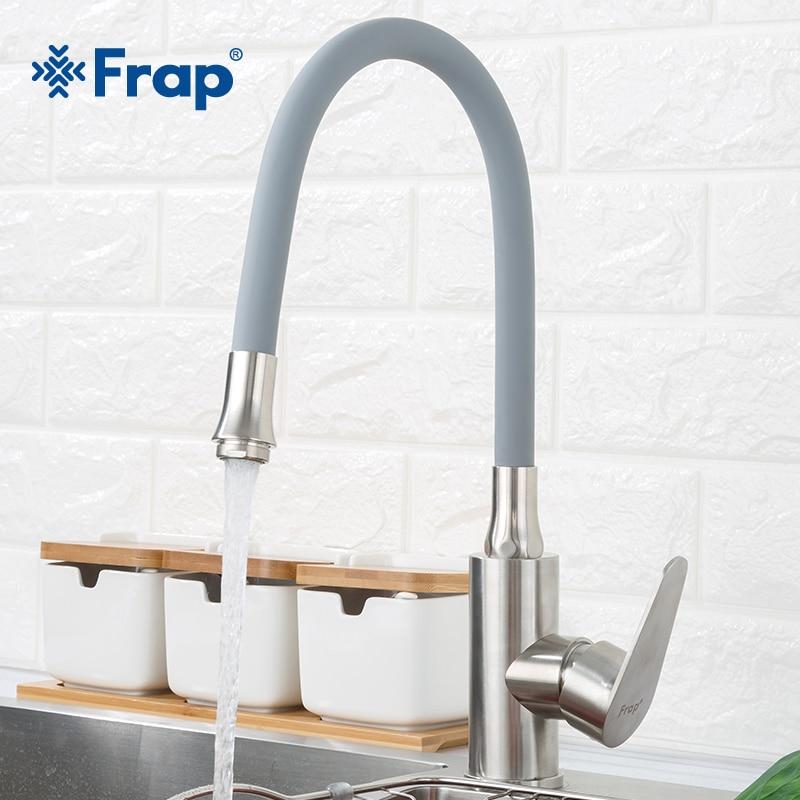 Frap 304 нержавеющая сталь любое направление вращающийся кухня sSink кран холодной и горячей воды смеситель Torneira одной ручкой F4448