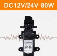 Mini Electric Water Pump DC12V 24V 80W High Pressure Micro Diaphragm Water Pump Automatic Switch 5.5L/min Intelligent Irrigation
