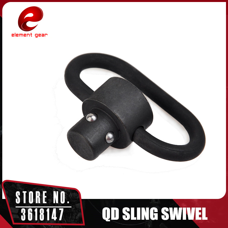 Element 1 PC Push Button Quick Detach Release QD Sling Swivel Scope Mount Ring Loop Adapter ME04002