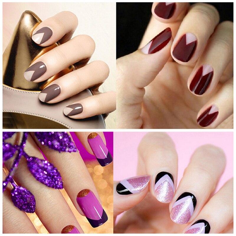 1 PCS 3 Style Nail Art Gel Polish Stickers White For Manicure Beauty ...