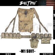 WW2 US M1 Gewehr Ausrüstung Kombination Leder Holster Taktische Armee US/501102
