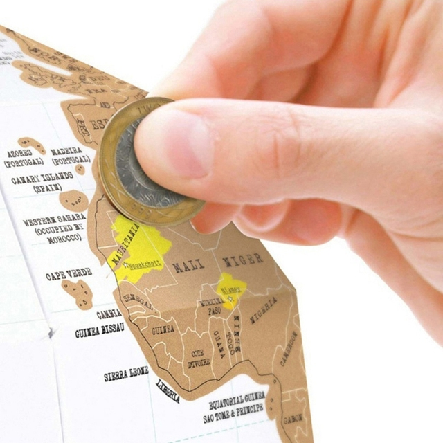 Globe 3D carte du monde à gratter 4