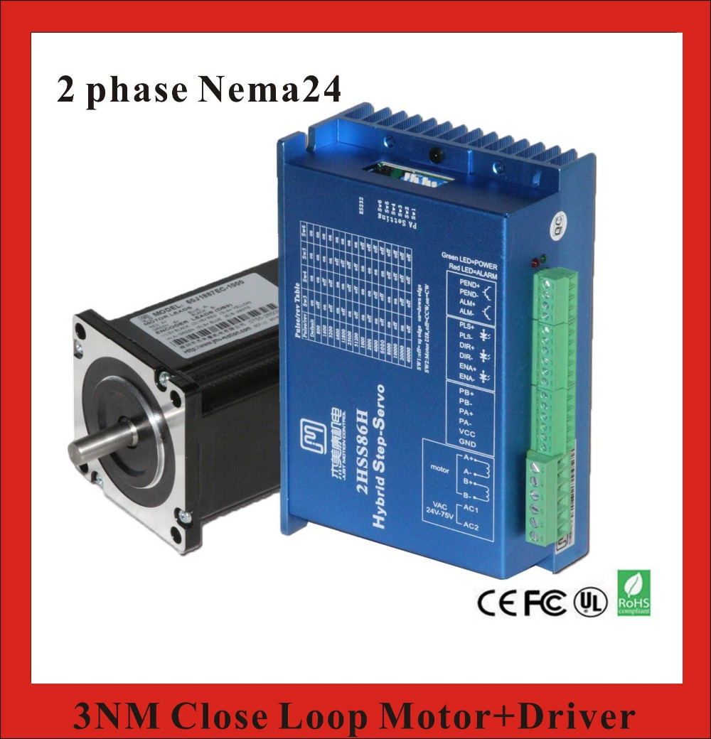 2 Phase NEMA24 3NM Closed Loop Stepper Servo Motor Driver Kit for CNC Machine high precision 2 phase stepper driver md2504 fit nema 17 23 motor 18 90vdc out 1 0a 4 5a cnc robot pump