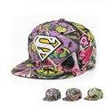 4 Colors <font><b>baseball</b></font> <font><b>cap</b></font> women Adjustable snapback hats <font><b>cap</b></font> superman <font><b>baseball</b></font> <font><b>cap</b></font> fitted cheap hats for women's and man
