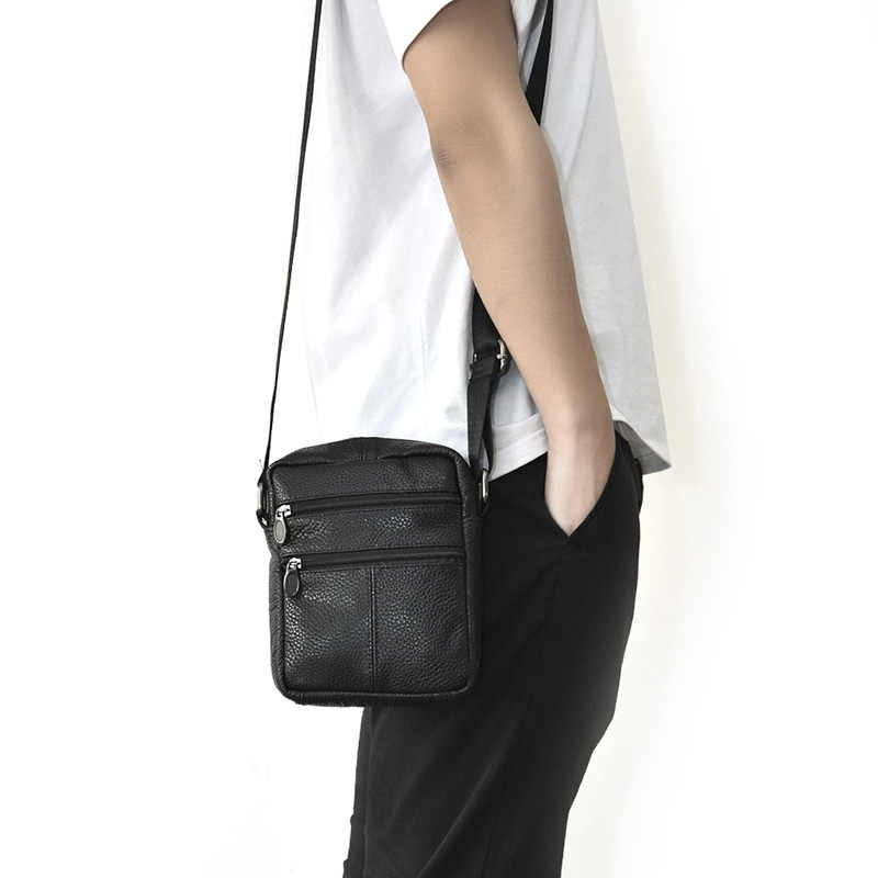 Męska torba na ramię biznes męskie torba ze skóry naturalnej męskie małe torby typu crossbody dla mężczyzn Messenger torba mężczyźni skórzane torebki