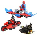 Marvel DC Comics Super Heroes Batman SpiderMan Robin Palo barco motocicleta de bloques de construcción ladrillos planeador com. legoeinglys. juguetes