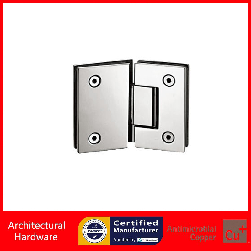 135 Degree Precision-Cast 304 Stainless Steel Shower Door Hinge For Glass to Glass Mounted DC-1034 black titanium 180 degree hinge open 304 stainless steel glass shower door hinges for home bathroom furniture hardware hm156