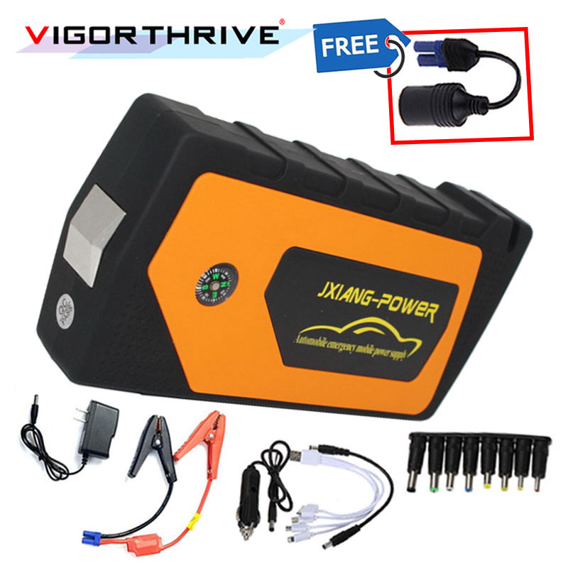 For Car Output Car Charger Power Bank Multi-Function Car Jump Starter Battery Booster 12V Emergency Starting Device Portable