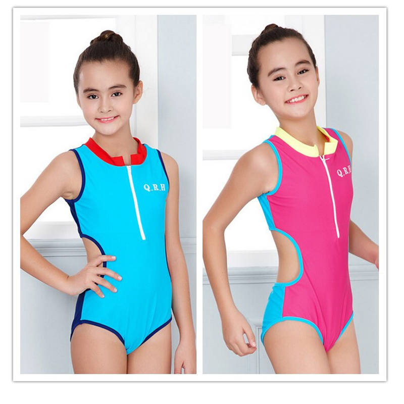 2018 New Summer Girls one-piece Bathing suit Lovely swimsuit bikini swimsuit for girls swimwear Sports style maillot de bain