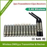 LED Lighting DFI Wireless DMX512 Transmitter Receiver For Stage Light Led Par Light Battery Light Kit