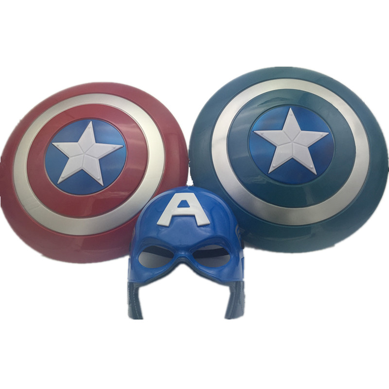 Christmas Toy Gift 32cm Movie Avengers Alliance Captain America Cosplay Costume LED Flashing Shield Red/Blue Lighting Sounding build a bear workshop captain america teddy bear in captain america costume