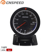 60MM DEFI CR Volts Gauge Black Face With Red White Lighting Auto Meter Auto Gauge Tachometer