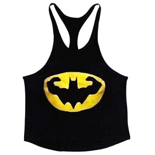 Algodão tops treino de musculação academias de Fitness Atacado vest regatas  muscle fit mens ouro fitness e570e4908f1