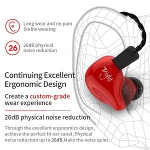 Image 5 - Kz zs4 1dd + 1ba alta fidelidade esporte in ear fone de ouvido driver dinâmico cancelamento de ruído fone de ouvido cabo de substituição as10 zs6