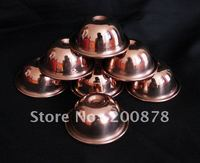 TBC877 Tibetan Red Brass Small Oil Bowl 34 75mm Set 7 Pieces Tibet Buddhist Items