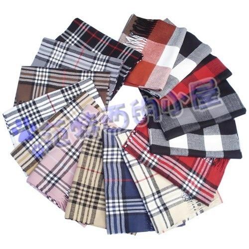 Free shipping B brand woman man plaid faux cashmere scarf tassel scarves classic grid tantan Scotticize pashmina winter shawl