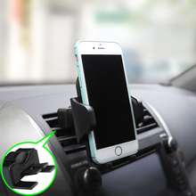 Holder For Phone in Car Air Vent & CD Slot Mount Telephone Support iphone 7 xiaomi nokia 6.1 plus max zte axon mini