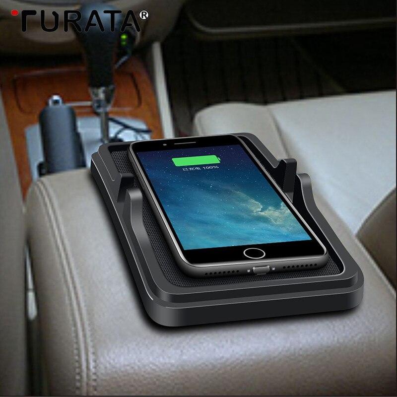 Turata Supporto Caricabatteria Da Auto Universale Senza Fili Per Xiaomi Iphone X 8 7 6 6 s Più Veloce Pad Caricabatterie Per Il Samsung Galaxy S9/S8 più