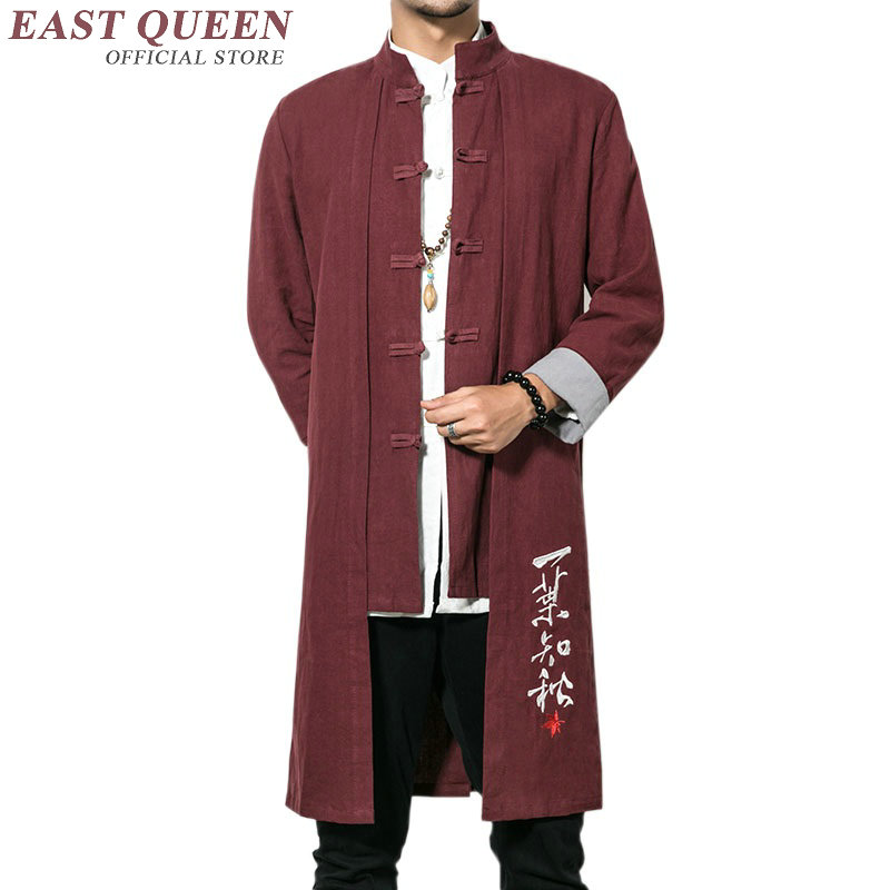 Traditional chinese clothing for men male overcoat outerwear oriental winter trench coat men trenchcoat clothes 2018