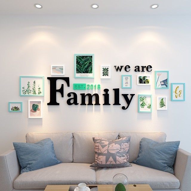 Picture Frame Sets for Wall Decoration Fashion Wooden Wall Frames Set 12pcs Wall Frame Pictures Set Family Living Room Decor