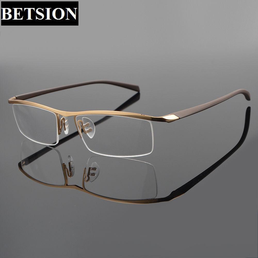 8f26bf7f57 TR90 Titanium Half Rimless Eyeglass Frame Streamlined Designer Man Women  Glasses Eyeglasses Rx able