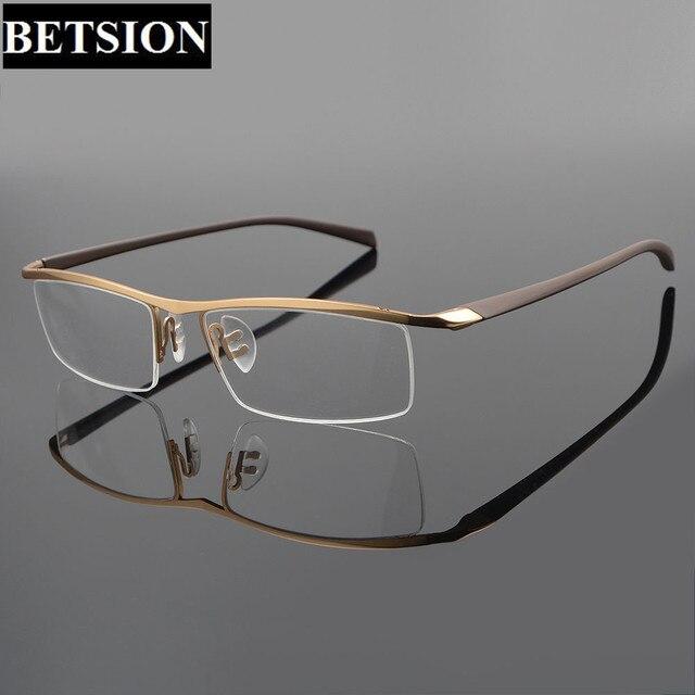 2af00dc279f7 TR90 Titanium Half Rimless Eyeglass Frame Streamlined Designer Man Women  Glasses Eyeglasses Rx able