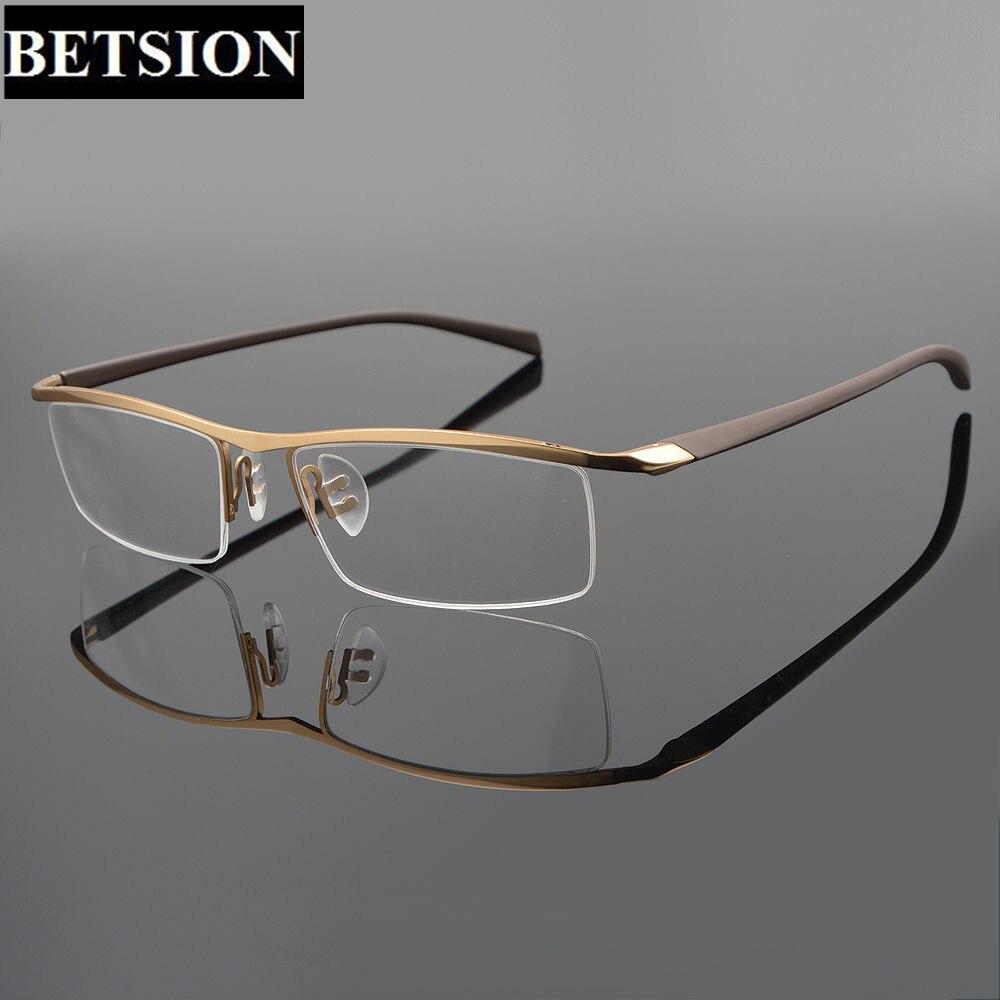 Tr90 titanium hälfte randlose brillen rahmen stromlinienförmigen ...