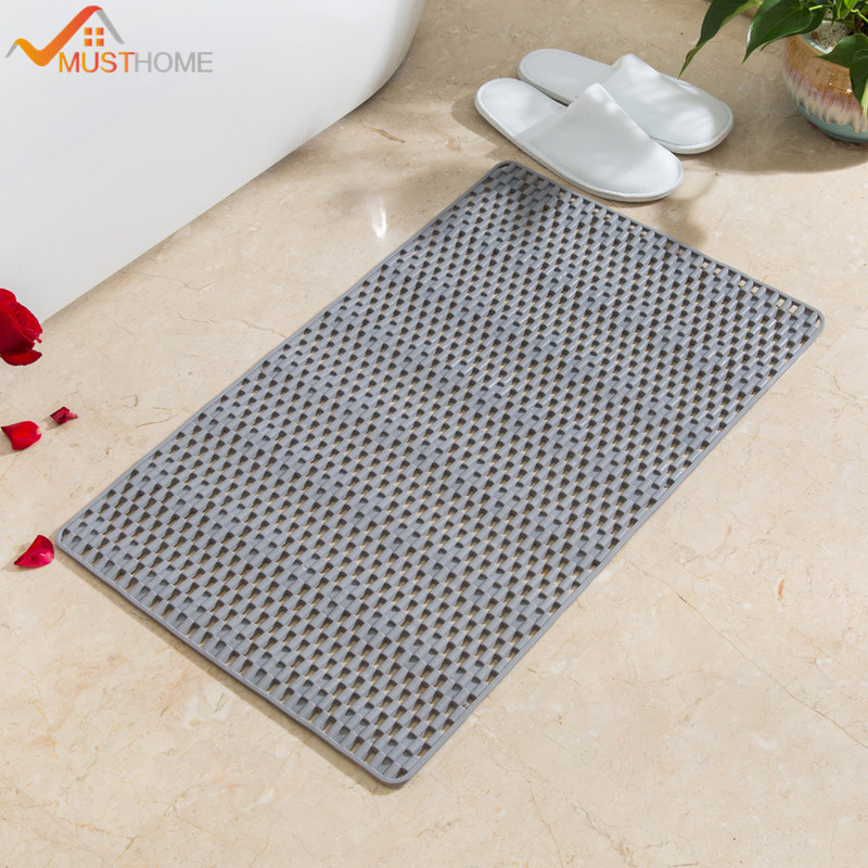 40cmx70cm PVC Bathroom Mat Non Slip Foot Massage Bathtub Shower Mat With Many Suckers