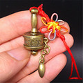 FD4599 new Tibet Buddhist Mantra Cimelia Bronze Om Mani pocket Prayer Wheel Ring