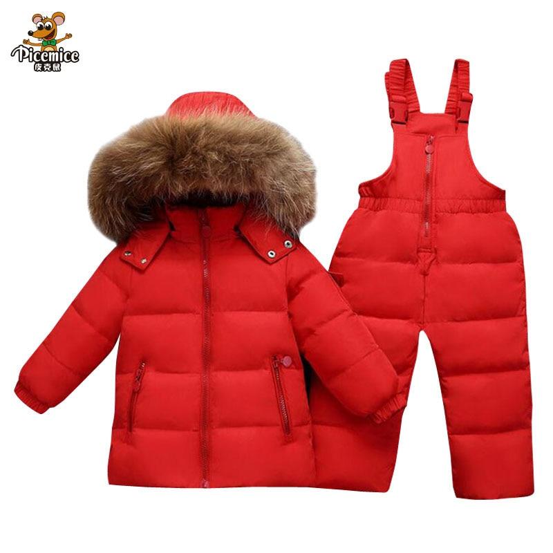 7a4d84af5 Boys Clothing Sets Warm Toddler Down Parka Jacket Coat Kids Snow ...