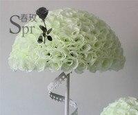 SPR 50cm inner plastic flower ball wedding decoration kissing ball 2pcs/lot