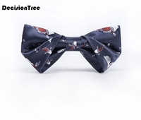 2019 women's floral bow ties cotton print bowtie neckties for men wedding party business suits gravata navy butterfly
