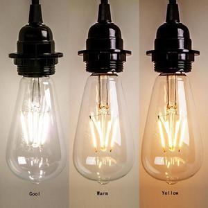 Image 2 - E27 AC110V 220V Vintage ST64 LED ampul dim 2W 4W 6W 8W Filament Edison LED 2300K 2700K 6000K sarı sıcak soğuk beyaz renk