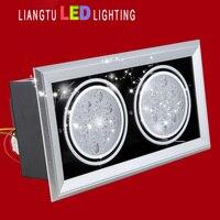 Led spotlight lighting grid 9w ventured lamp double slider multithread 3w5w7w12w15w bean pot lamp light source cob