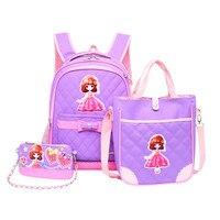 Yeni geldi kore tarzı 3 Adet/takım Yükü Hafifletmek çocuk sırt çantası erkek kız için sevimli omuz çantaları okul çantaları Mochila