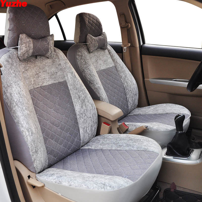 Yuzhe Universal Auto car seat cover For citroen c5 c4 xsara picasso berlingo c elysee car accessories cover for vehicle seat shining wheat hand stitched black leather steering wheel cover for citroen elysee c elysee citroen xsara picasso