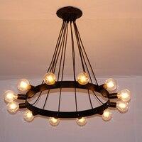 Nordic retro living room restaurant industry pendant Lights creative magic beans pendant Lamp Iron clothing store E27 fixtures