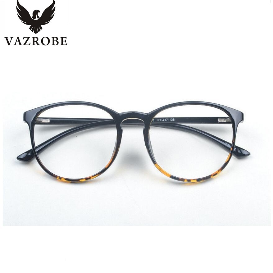 vazrobe best tr90 round glasses frame men women retro eyeglasses for myopia spectacles prescription womens grade