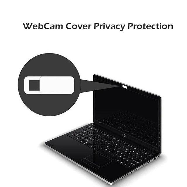 3 unids/set etiqueta engomada del ordenador portátil Webcam cubierta de protección de la privacidad del obturador Ultra delgado deslizador Cámara escudo para MacBook teléfono tableta