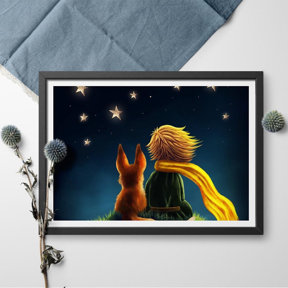 The Little Canvas: Modern Wall Art Fairy Tales The Little Prince Art Print