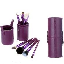 12pcs Pro Foundation Powder Blush Makeup Brushes Set Eyeliner Eyeshadow Eyebrow Lips Brush With makeup brush Bag Case Holder