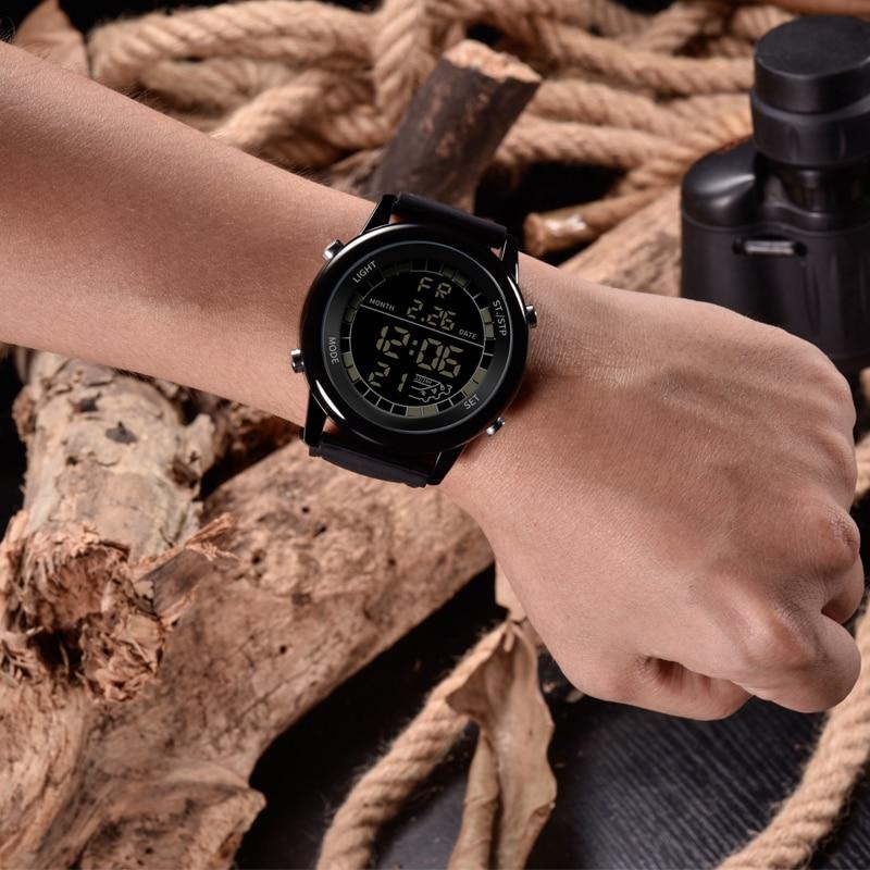 SANDA-montre numérique pour hommes, de luxe, montre-Bracelet de Sport, de luxe, Led lumineuse, affichage numérique, chronographe chronomètre 6