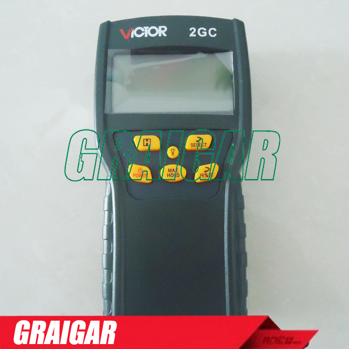 VICTOR 2GC VC2GC Wood Moisture Meter Measuring range: 2% to 30% Using micro-computer technology Measure a variety of grain mc 7806 digital moisture analyzer price with pin type cotton paper building tobacco moisture meter