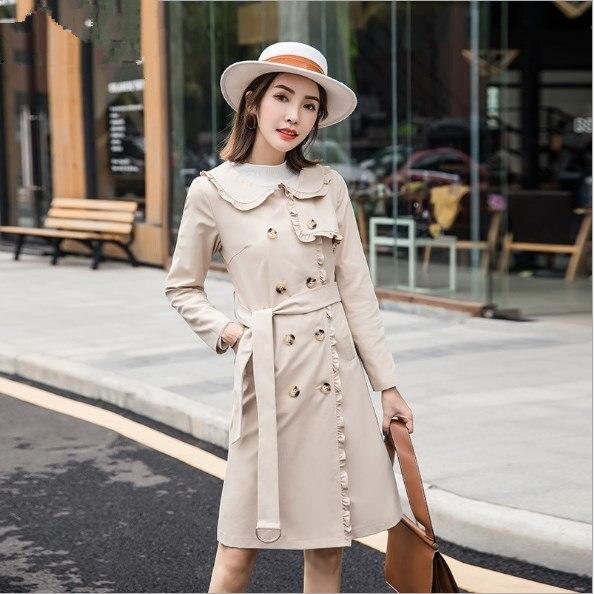 4bdf75f38bca7 Brésilienne préféré Mode Particulièrement longue tranchée manteau pour femmes  Slim fit femme coupe Vent ceintures Vêtements Printemps trench ...