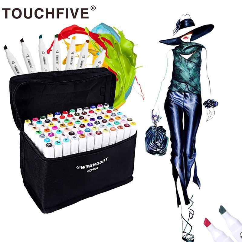 Touchnew 36/48/72/80 Colors Art Markers Pen Set Dual Head Sketch Markers Pen For Drawing Manga Markers Design Art Supplies sketch marker pen 218 colors dual head sketch markers set for school student drawing posters design art supplies