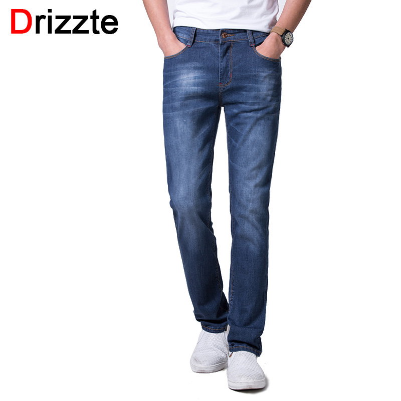 Drizzte Plus Size 28 to 48 Summer Trendy Lightweight Stretch Denim Mens Jeans Pants Trousers Big Large Jean plus size clothing  цена