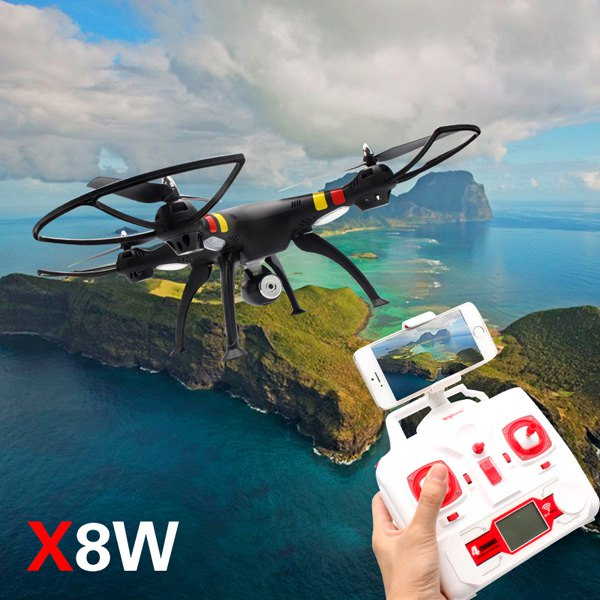 SYMA X8W WiFi FPV Headless Mode 2.4G RC Simulators Remote Control Quadcopter HD 0.3MP Camera 6 Axi Gyro 3D Roll Stumbling UFO jjr c jjrc h43wh h43 selfie elfie wifi fpv with hd camera altitude hold headless mode foldable arm rc quadcopter drone h37 mini